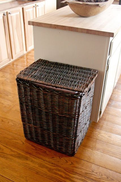 simply drop your bin into a wicker hamper for a vessel that adds a bit more style in your kitchen