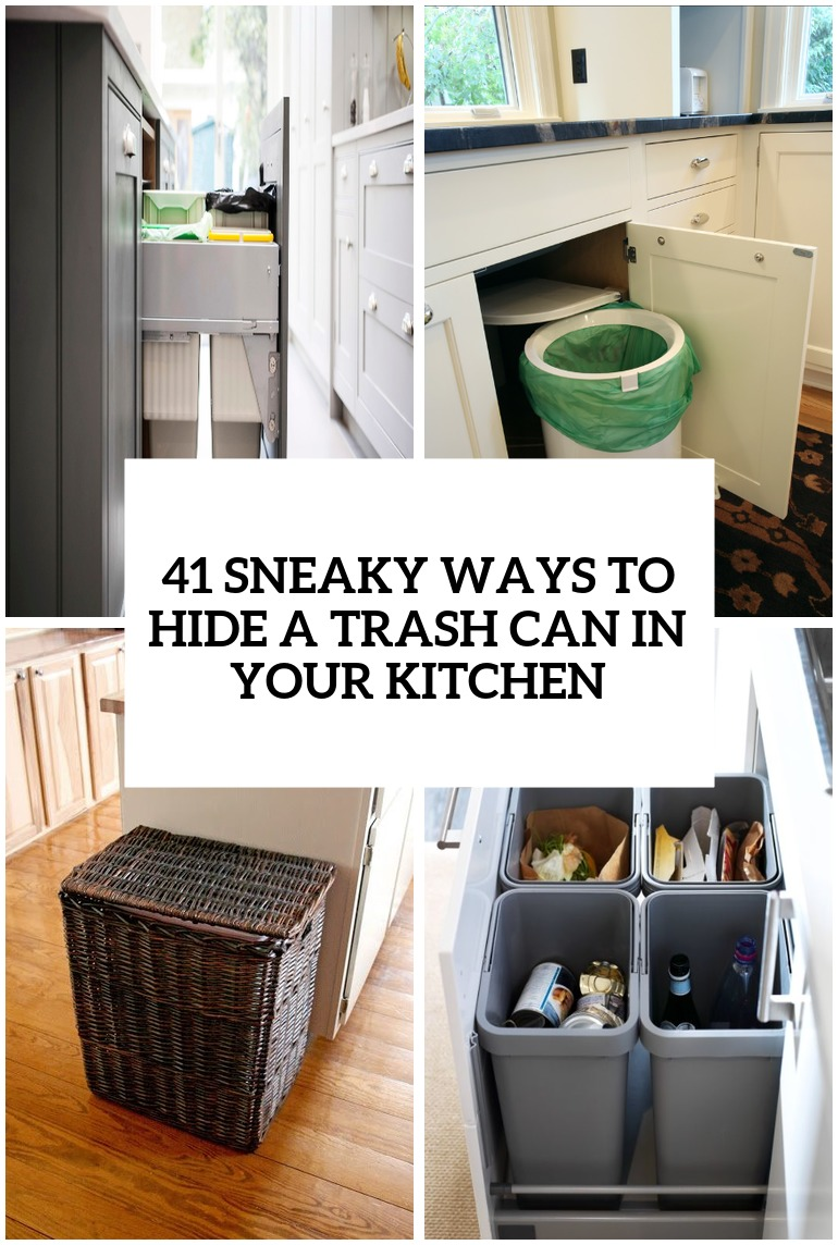 Sneaky Ways To Hide A Trash Can In Your Kitchen Cover