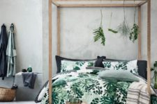 31 green and white leaf print bedding for a natural feel in your bedroom
