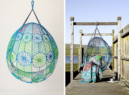 Knotted Hanging Chair Melati by Anthropologie (via www.trendir.com)
