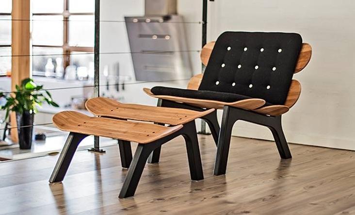 Eye-Catchy Board:Chair From Skateboard Decks