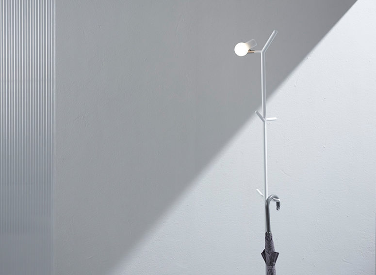 Minimalist Hallway Lamp Inspired By A Bird On A Branch