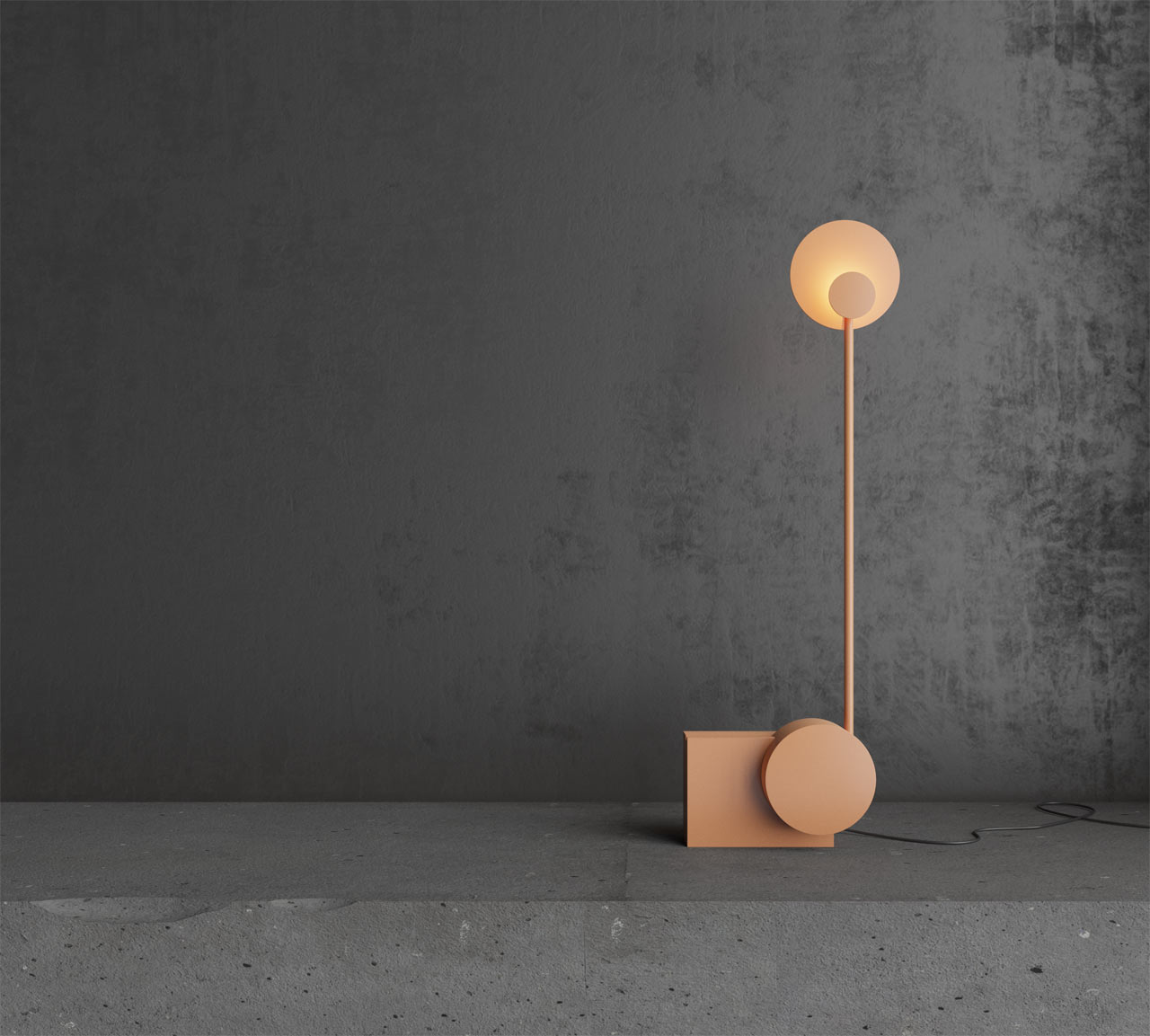 RA table lamp is inspired by the sun movements and it interacts with you and inspires you to move, too
