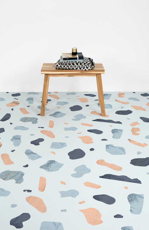 Terra floors in blue look peaceful and chic yet bright enough