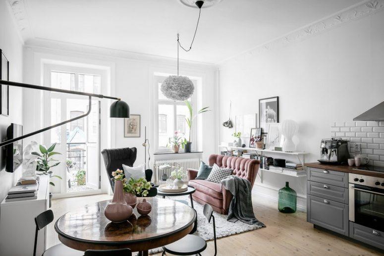 Cozy Scandinavian Apartment With Historic Elements