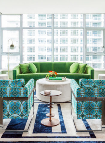 Surprising Brightly Colored Mid Century Modern Apartment Ibusinesslaw Wood Chair Design Ideas Ibusinesslaworg