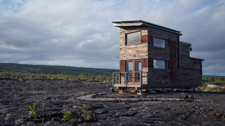 Tiny Phoenix House At The Base Of An Active Volcano