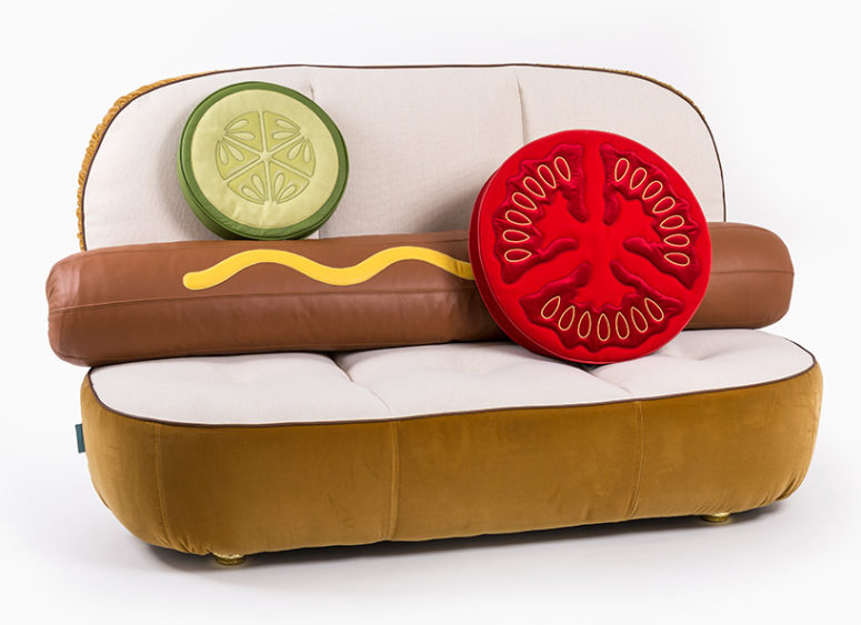 UN LIMITED EDITIONS Is A Furniture Collection Inspired By Fast Food The Open Hot Dog Bun
