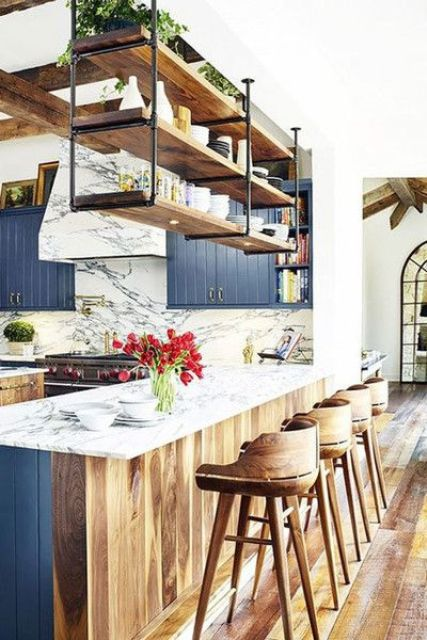 25 Stylish Kitchen Bar Counters For Open Layouts - DigsDigs