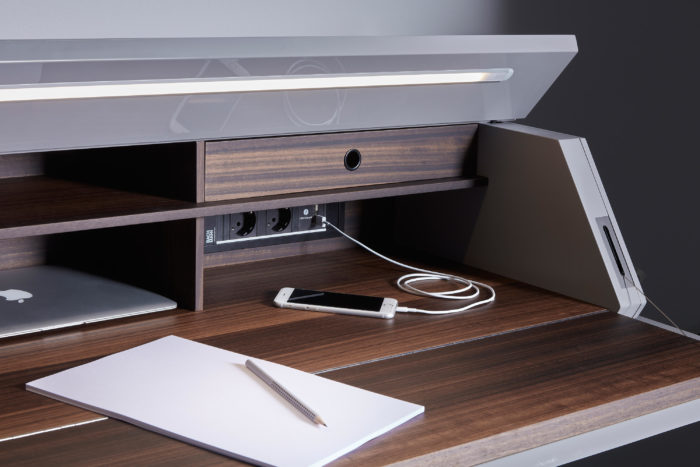 Such a desk won't take much space and you can organize a home office anywhere with it