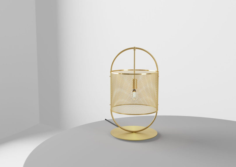 There's a brass version available to add a glam feel to the space