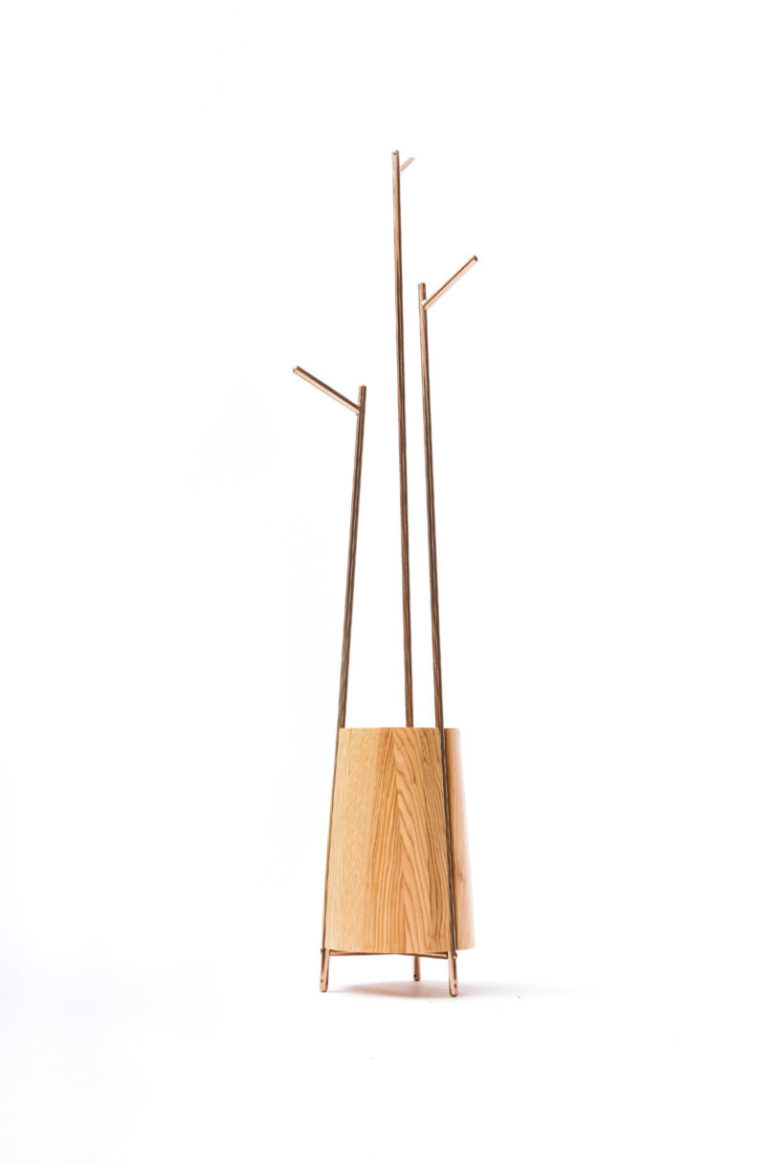 This coat hanger looks stylish and chic, and its shape is non-traditional