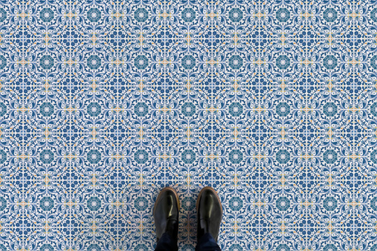 Lisbon has a refined pattern and a touch of beige