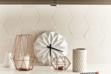 05 matte white tiles with white grout make up a gorgeous textural backsplash