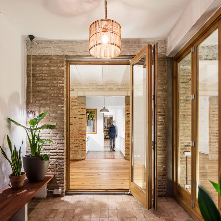 The lighting within the home is further supported by passive design techniques