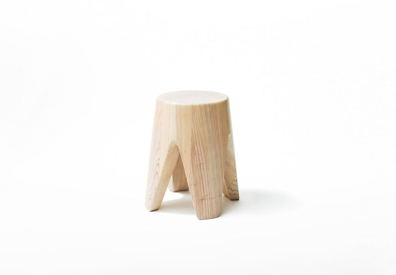 This classic four leg stool will be a natural touch