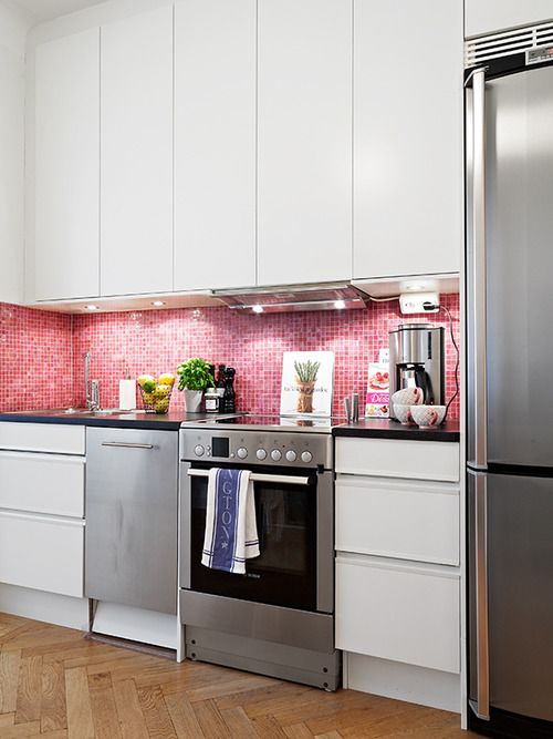 pink kitchen tiles 30 timeless and chic glossy tile decor ideas digsdigs 1503