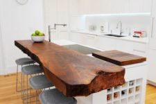 awesome wood kitchen countertop