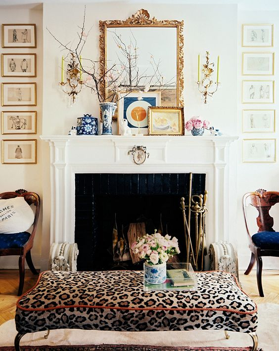 a chic cheetah print ottoman is ideal to add a refined feel to your space
