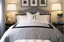 08 an oversized chandelier and bedside lamps to make the room cozy