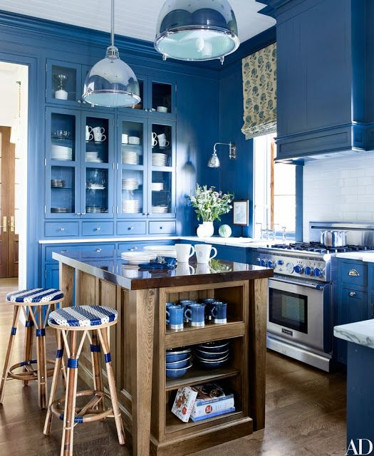 Kitchen Decor With Black Appliances: 30 Gorgeous Blue Kitchen Decor Ideas