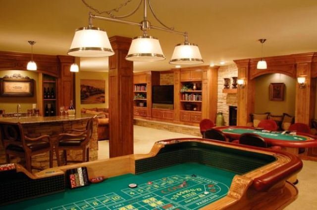 a home casino and card tables to play with your friends