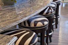 14 zebra print stools for an interesting breakfast zone
