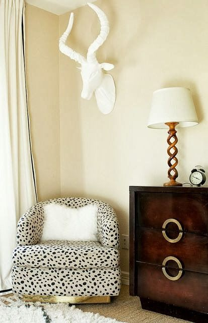 dalmatian print chair for a glam yet rustic feel in the space