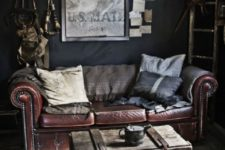 17 a small wooden chest used as a coffee table for an eclectic room, it adds texture to the space