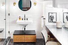 17 matte black hexagon tiles for a gorgeous monochrome bathroom