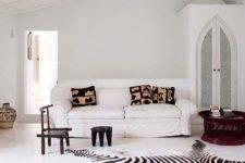 zebra rug for living area decor