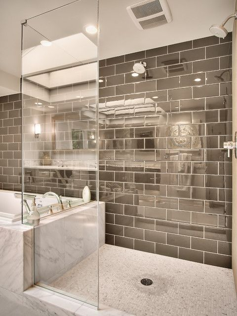 glossy chocolate brown tiles with white grout look timeless and classic, ideal for any modern space