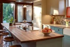 24 a kitchen island with an eating space counter is a great idea to save some space
