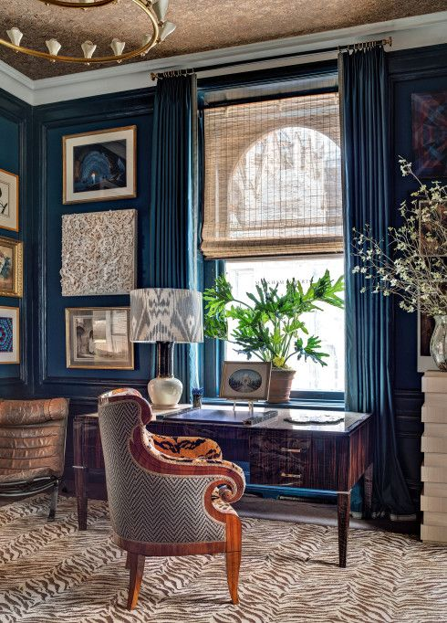 a zebra print carpet to make a refined space not so traditional and more eye-catchy