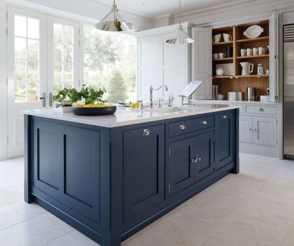 Off White Kitchen Cabinets Vs White: 30 Gorgeous Blue Kitchen Decor Ideas