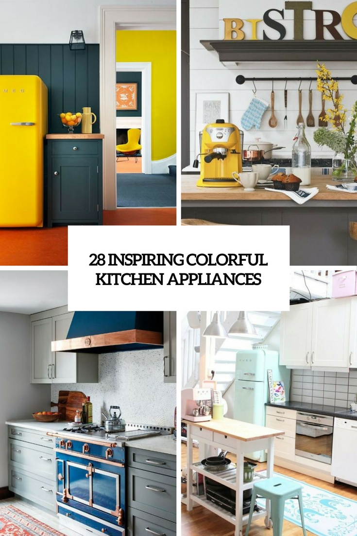 inspiring colorful kitchen appliances cover