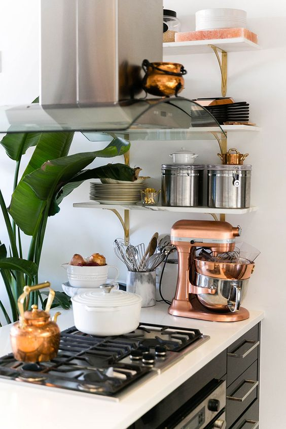 a copper mixer is a timeless and super elegant touch for any kitchen