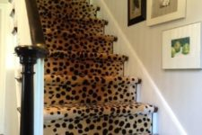 29 cheetah print stair runner for a cozy and chic feel