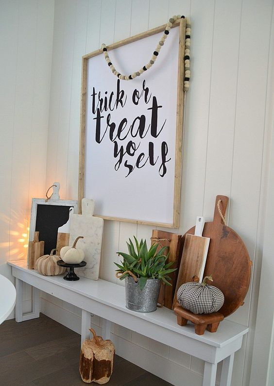 a stylish sign in a wooden frame for a modern or Scandinavian space