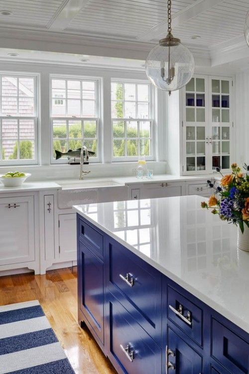 30 Gorgeous Blue Kitchen Decor Ideas - DigsDigs