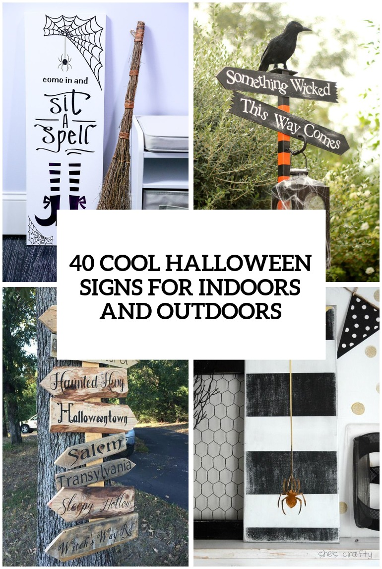 40 Cool Halloween Signs For Indoors And Outdoors