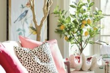 30 dalmatian print pillow to make a girlish living room more eye-catching