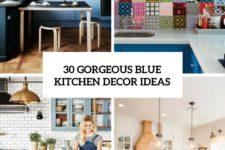 30 gorgeous blue kitchen decor ideas cover