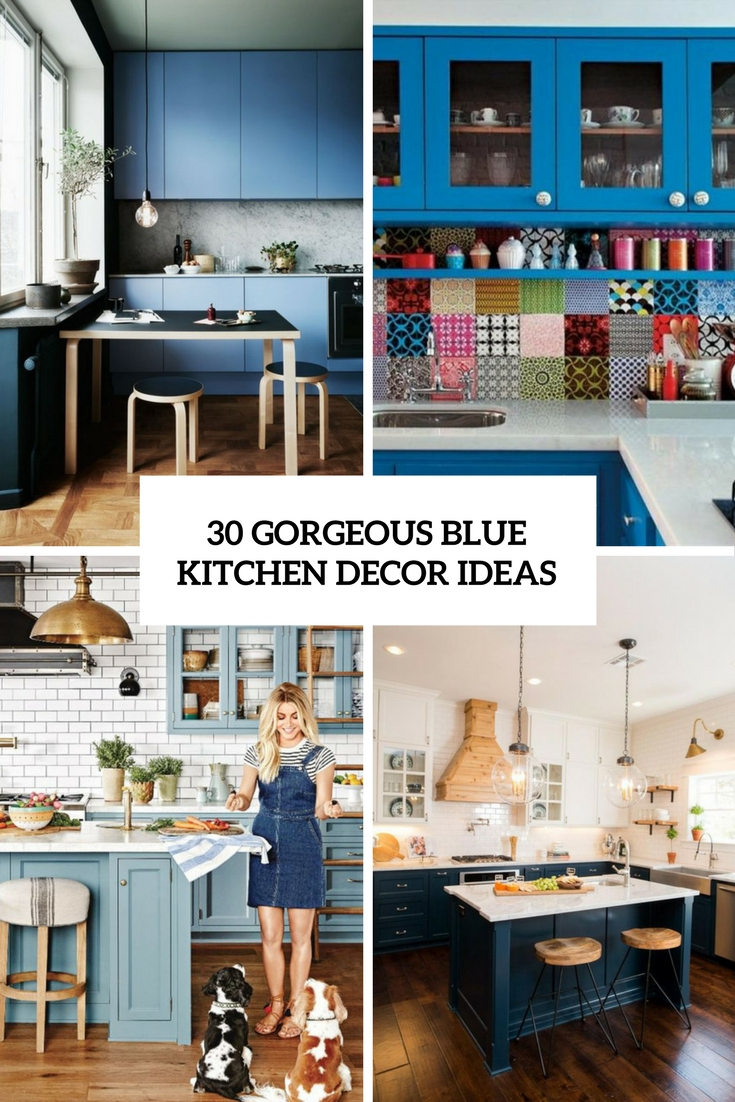 Gorgeous Blue Kitchen Decor Ideas DigsDigs - Blue kitchen decor ideas
