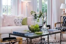 33 exquisite zebra upholstery chairs and a zebra print rug for a glam space