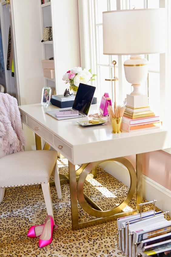 if you have a girlish and glam space, a cheetah print carpet is nice and eye catchy fit