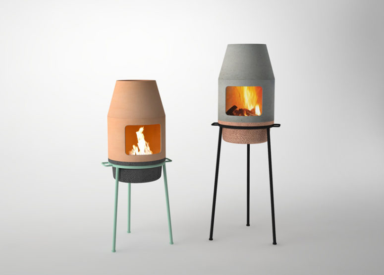 Faro mini fireplace by Rui Pereira and Ryosuke Fukusada (via https:)