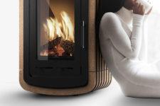 Natura cork covered stove