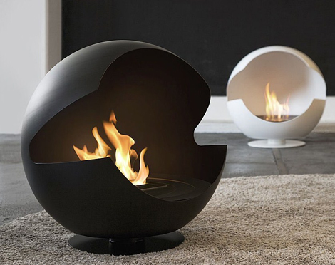 Glove fireplace by Vauni