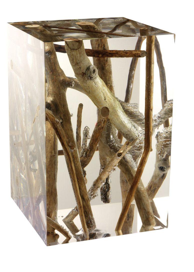 acrylic driftwood tables by Michael Dawkins  (via www.trendir.com)